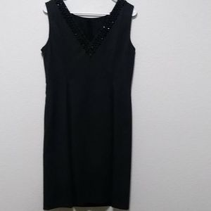 Antonio Melani Beaded V Design Dress Size 8